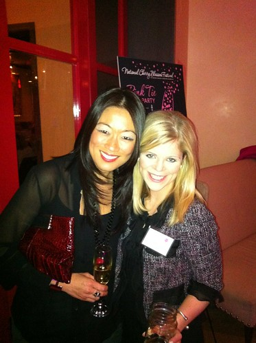 Pamela Sorensen & Anna Kimsey at the Pink Tie Party Kick Off