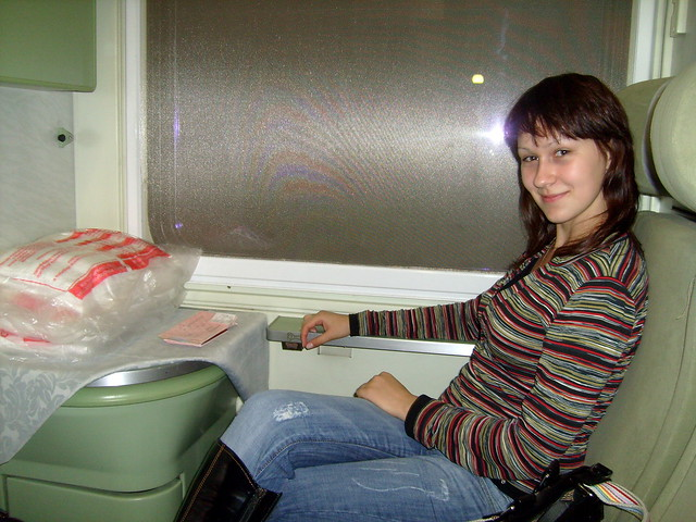 Juliett in train to Prague