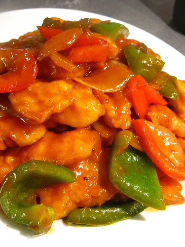 Sweet and Sour fried fish fillet Singlish Swenglish