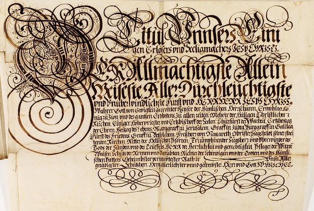 Kalligraphische Schriftvorlagen by Johann Hering p