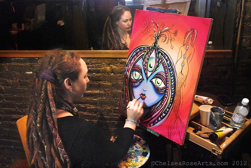 Live painting at The Fifth World