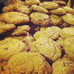 A mountain of jacques torres' chocolate chip cookies