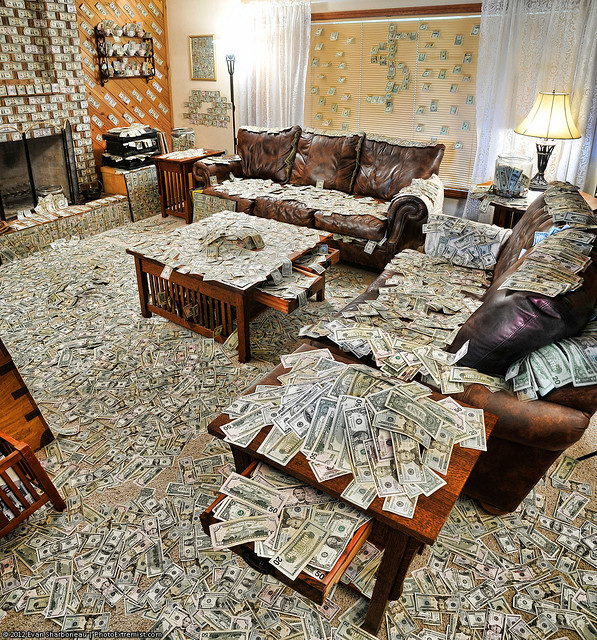 A Room Filled with an Obnoxious Amount of Money