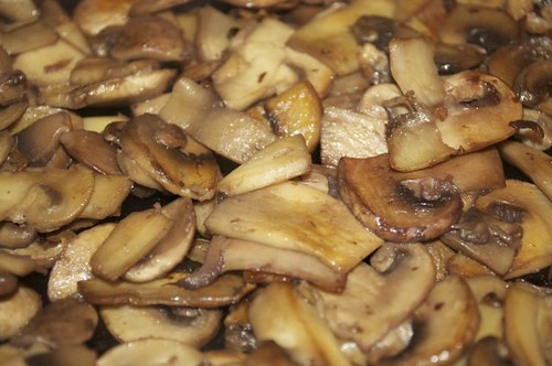 mushrooms sautéed with a splash of red wine 12