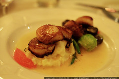 dinner @ french market grille   scallops in grapefru…