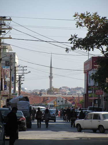 Balikesir: minaret in the distance