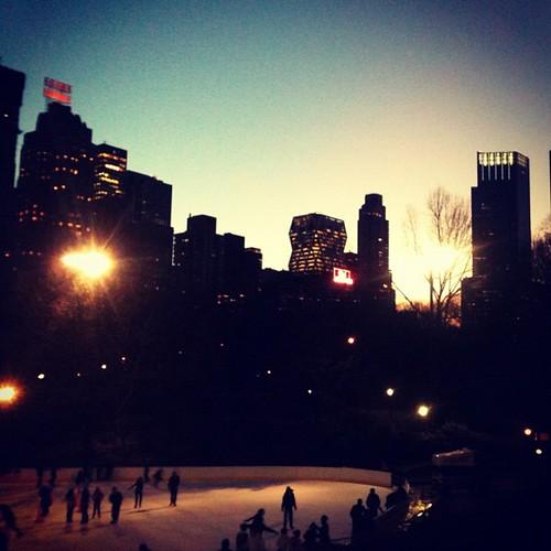 Ice skating in Central Park!