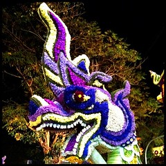 Dragon made out of flowers. Just one detail from amazing floats.