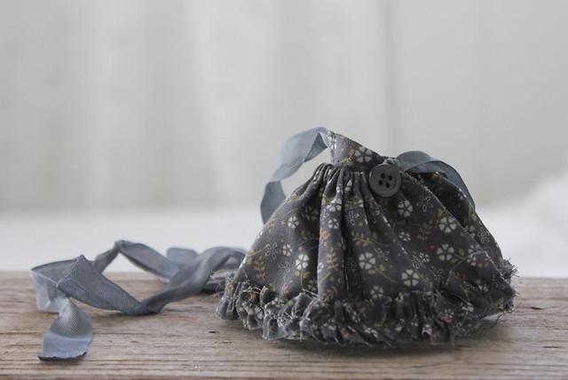 Grey Flower Skirt
