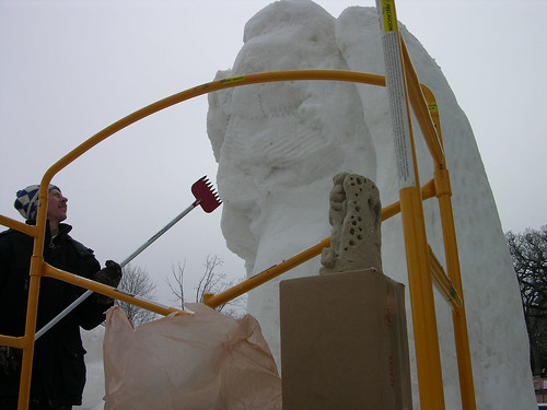 2012 Snow Sculpture Contest Sonwbody Else whack