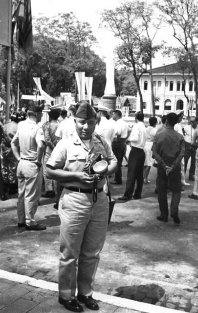 Shot of a cameraman in uniform