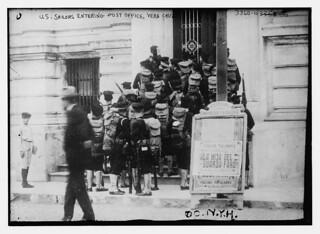 U.S. sailors entering Post Office, Vera Cruz  (LOC)