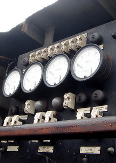 Dials in an old boat