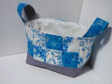 Blue & White Fabric Basket