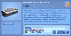 Wake Me With a Kiss Sofa