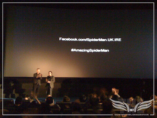 The Establishing Shot: The Amazing Spider-Man Sneek Peek Event - Rhys Ifans & Chris Hewitt QA - London by Craig Grobler