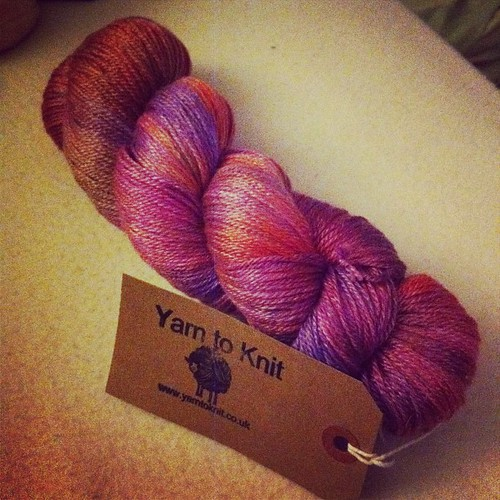 Received 1st Yarn to Knit Sock Club - gorgeous and soft!