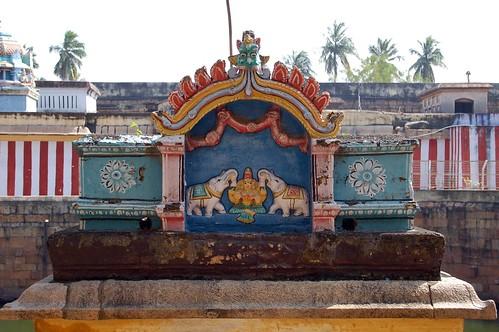 Ein Laxshmi Schrein in Sri Rangam