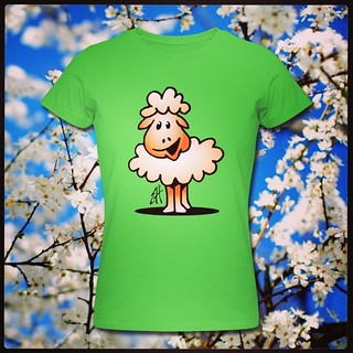 Lammetje T-Shirt ontwerp :: Lamb T-Shirt design. www.Tekenaartje.nl #lente #spring #schaap #sheep #Zazzle  #Spreadshirt  #Skreened #Tshirt  #Tshirtdesign  #tekening  #tekenen  #drawing #dailysketch #dailydrawing #cute #funny