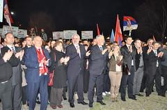 кликни за фотогалерија - ГРОМ го одржа својот политички митинг во центарот на Прилеп