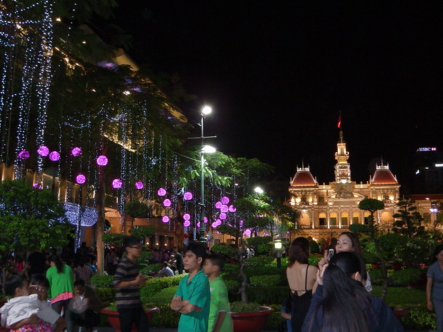Tet decorations in Saigon, Vietnam