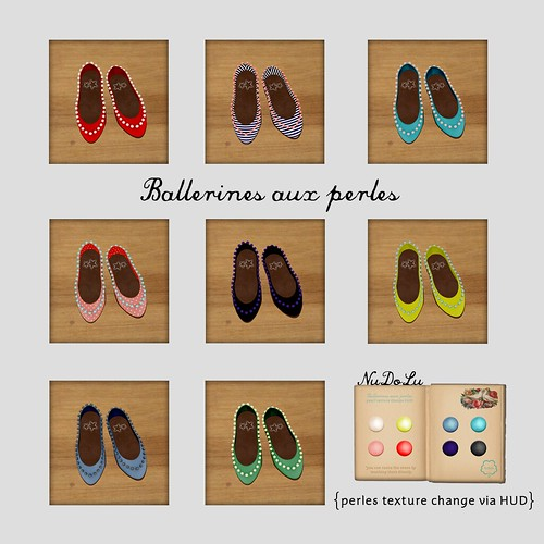 NuDoLu Ballerines aux perles all colors