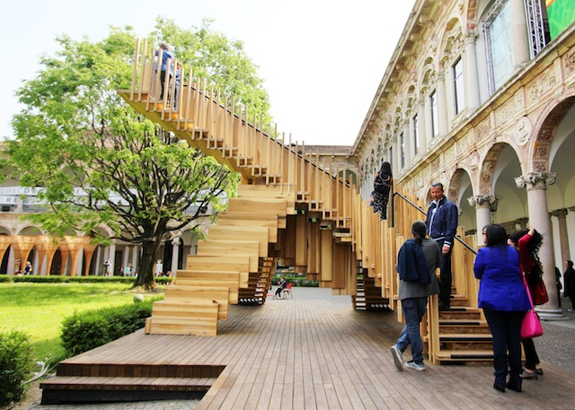 Milan Salone del Mobile 2014 Endless Stairs