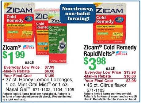 picture about Menard Printable Coupons named $2.02 Income Producer upon Zicam at Menards with Printable Coupon