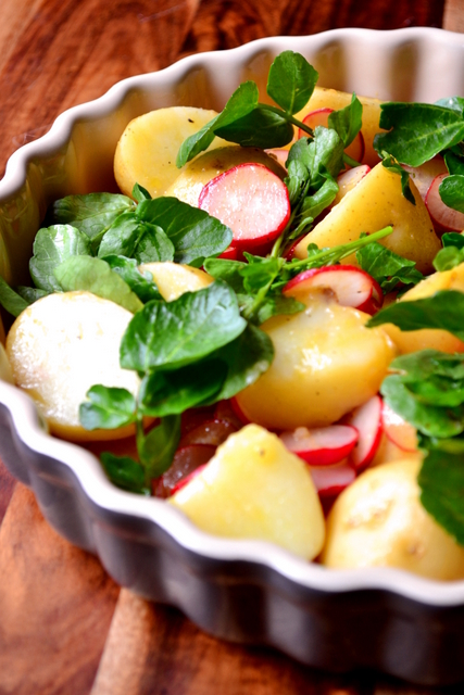 Radish and Watercress Potato Salad Recipe