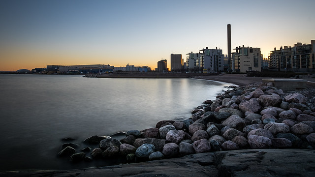 Sunset in Eira - Helsinki, Finland - Seascape photography