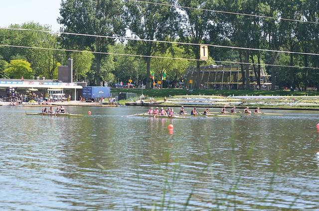 Roei wedstrijd Bosbaan Amsterdam