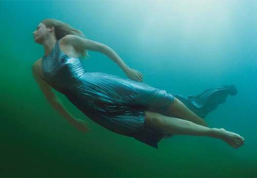 "Charlize Theron in Christopher Kane:""Breaking Away"" by Annie Leibovitz for US Vogue December 2012 by Winter Phoenix"