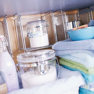 Organized Laundry Shelf