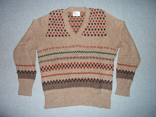tan preppy sweater