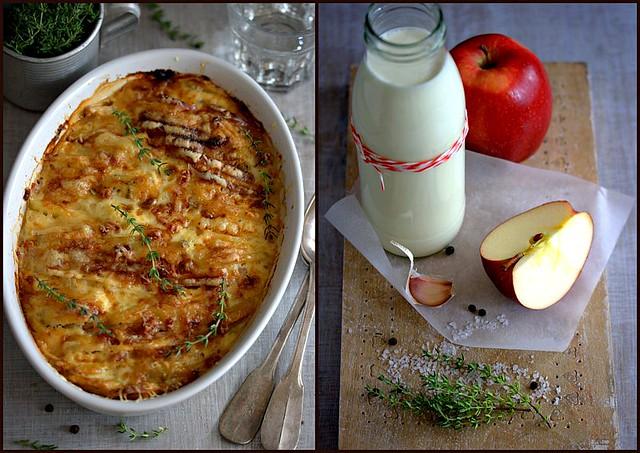Kartoffel - Sellerie - Apfel - Gratin