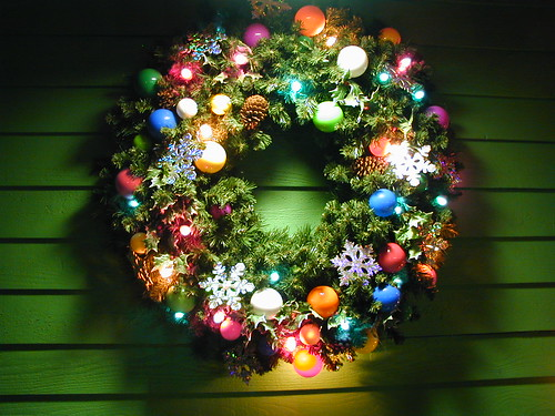 Christmas Lighted Wreath