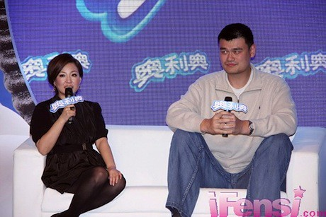 November 24th, 2011 - Yao Ming answers questions at an OREO promotional event in Shanghai