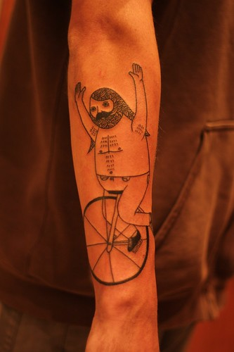 PENNY FARTHING GUY by Michael C. Hsiung