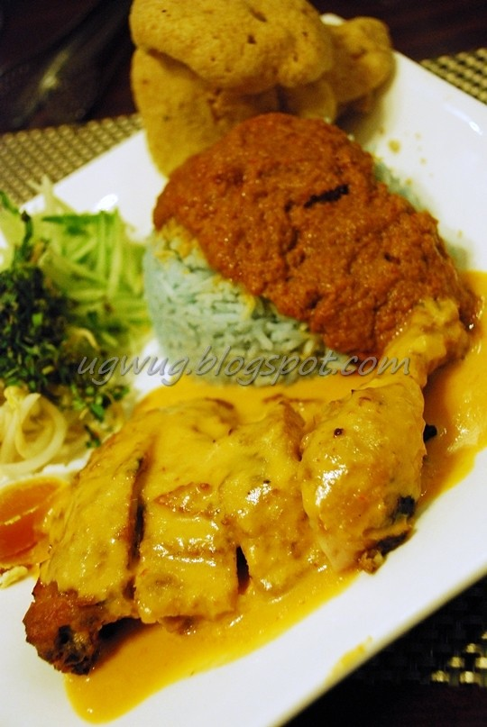 Nasi Kerabu with Ayam Percik