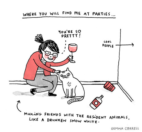 me, at parties