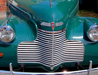 Green Chevy Grill Classic Hot Rod