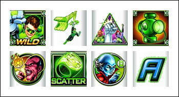 free Green Lantern slot game symbols