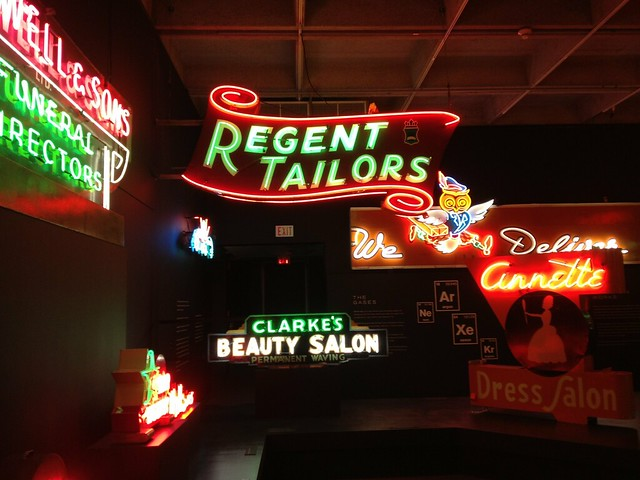 Love the 'ugly neon' exhibit at @MuseumofVan