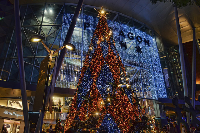 Christmas tree at Paragon, Singapore