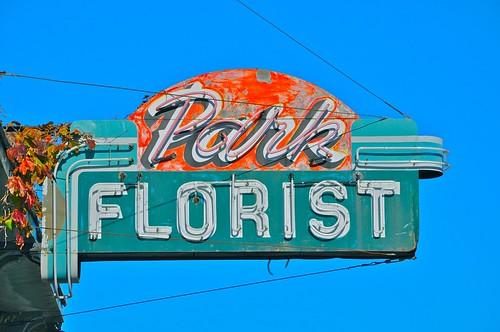 Park Florist Vintage Sign