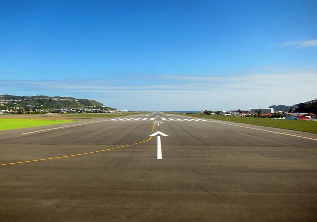 Current desktop: Wellington airport runway
