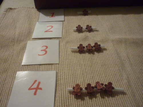 Gingerbread Man Counting Activity (Photo from The Work Plan)