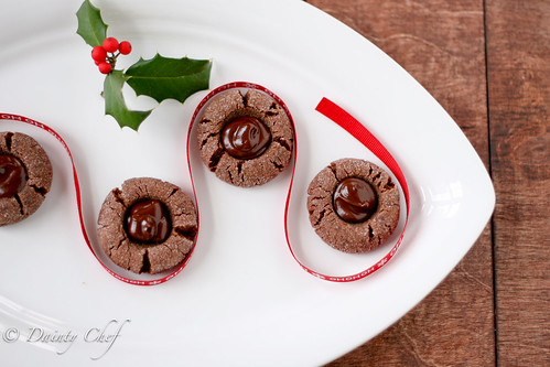 Chocolate-Peppermint Thumbprints | Dainty Chef