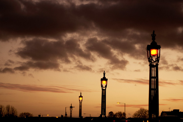 Street lamps in London town