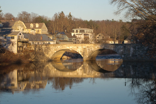 new bridge winter sunset england reflection stone river golden highway arch village state dean cement masonry newhampshire twin nh double route mortar hour edna proctor 114 henniker contoocook